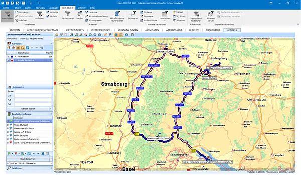 einfache Routenplanung für den Außendienst