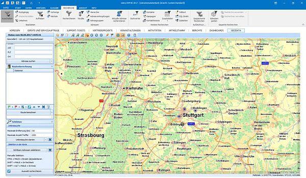 optimale Routenplanung und Umfeldsuche
