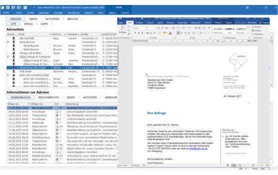 Briefe direkt aus cobra Adress PLUS erstellen