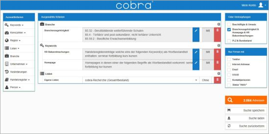 OptiServer - Firmenauswahl selektieren